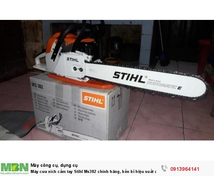 Máy cưa xích cầm tay Stihl Ms382 chính hãng, bền bỉ hiệu suất cao