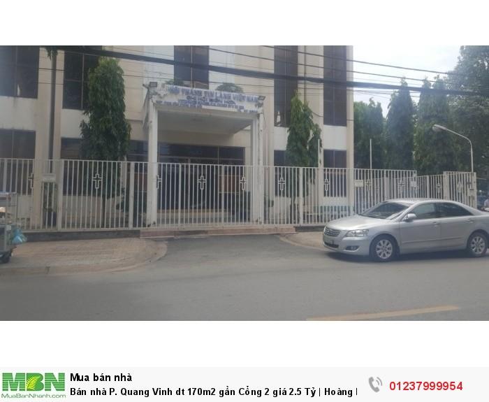 Bán nhà P. Quang Vinh dt 170m2 gần Cổng 2