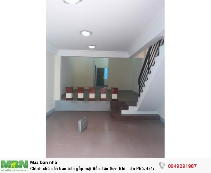 Chính chủ cần bán bán gấp mặt tiền Tân Sơn Nhì, Tân Phú. 4x17m, 1 trệt 3 lầu