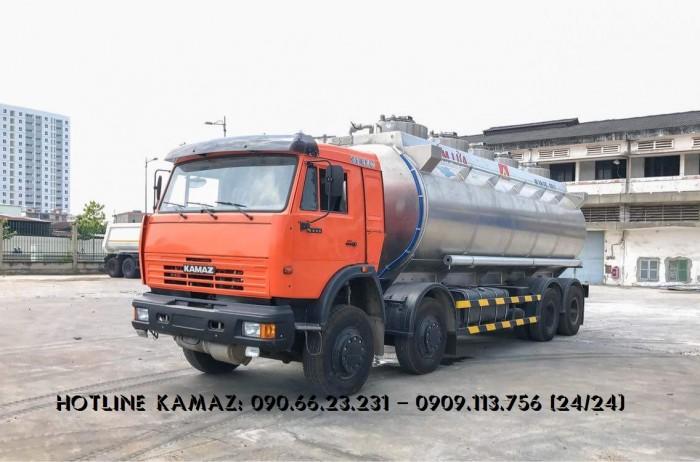 Xe bồn xăng dầu Kamaz 18m3 & 25m3