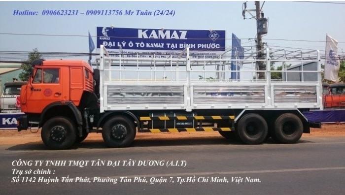 Xe Kamaz 4 giò, Kamaz 6540 thùng 2016, Kamaz thùng 18 tấn