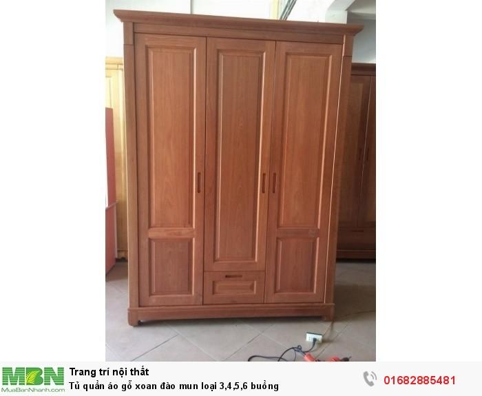 Tủ quần áo gỗ xoan đào mun loại 3,4,5,6 buồng0