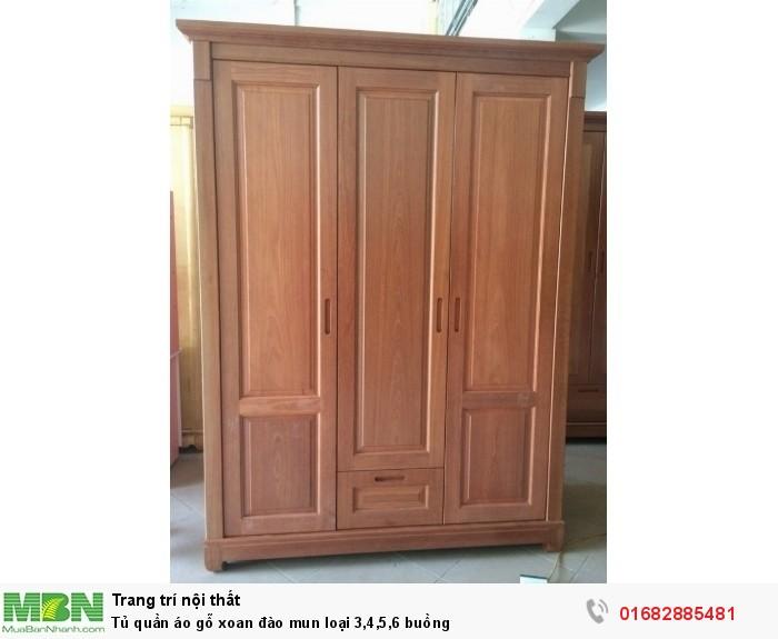 Tủ quần áo gỗ xoan đào mun loại 3,4,5,6 buồng2
