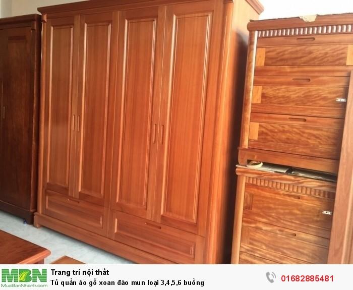 Tủ quần áo gỗ xoan đào mun loại 3,4,5,6 buồng1