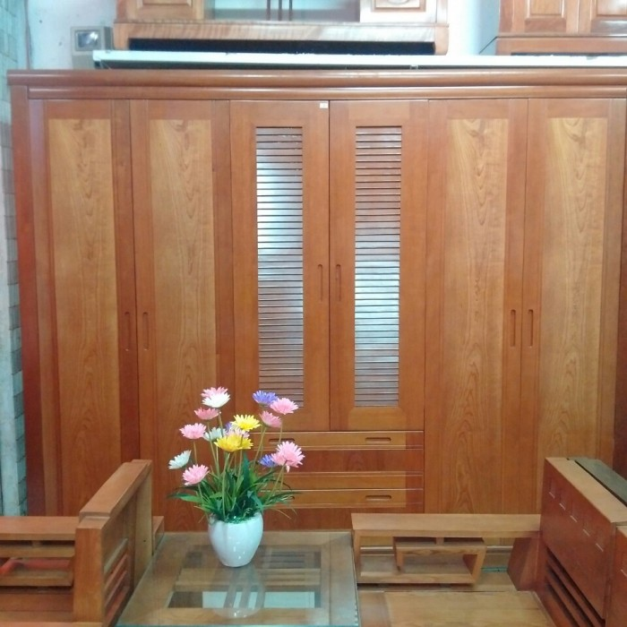 Tủ quần áo gỗ xoan đào mun loại 3,4,5,6 buồng6
