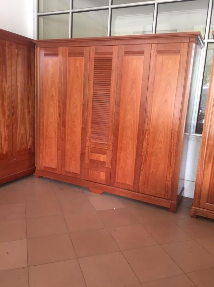 Tủ quần áo gỗ xoan đào mun loại 3,4,5,6 buồng7