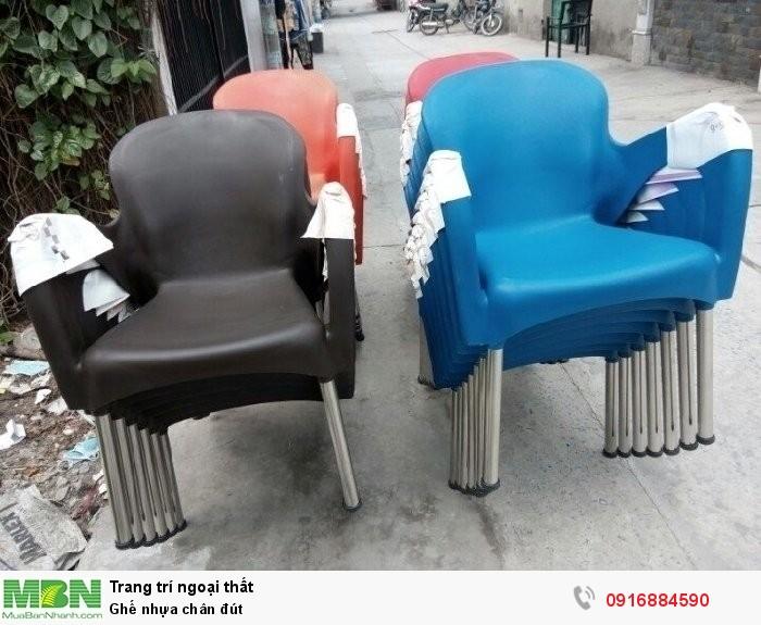 Ghế nhựa chân đút