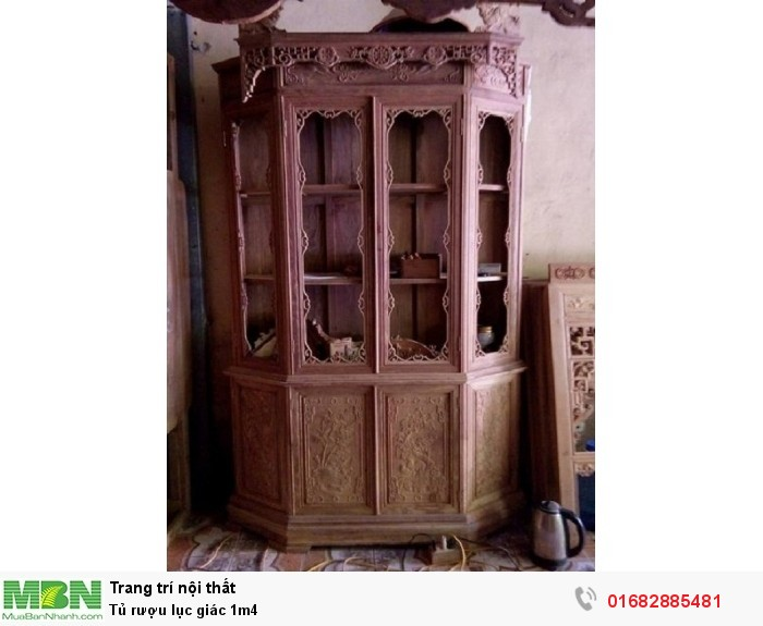 Tủ rượu lục giác 1m41