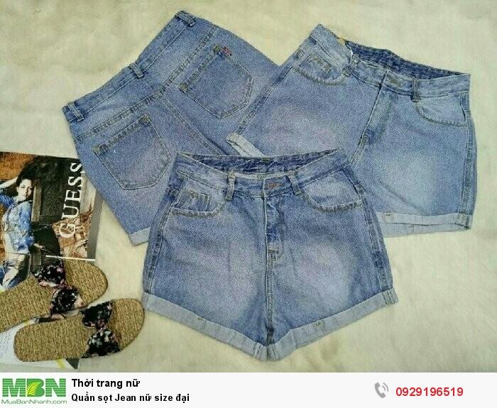 Quần sọt Jean nữ size đại0