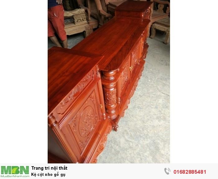 Kệ cột nho gỗ gụ2