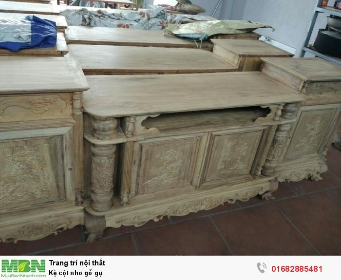 Kệ cột nho gỗ gụ6
