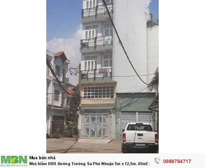 Nhà hiếm HXH đường Trường Sa Phú Nhuận 5m x 12,5m. 65m2 x 4 lầu. Giá TL
