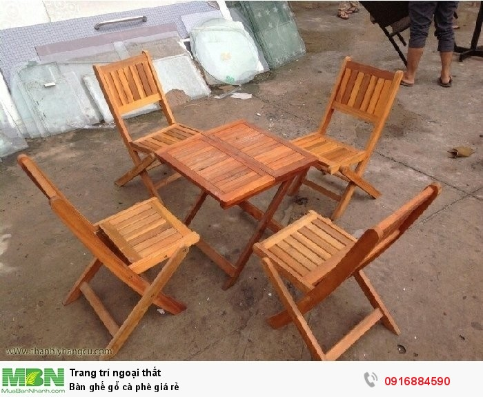 Bàn ghế gỗ cà phê giá rẻ