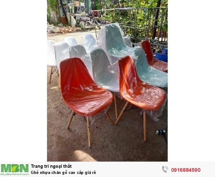 Ghế nhựa chân gỗ cao cấp giá rẻ1