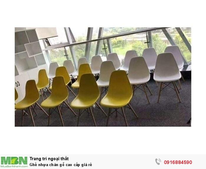 Ghế nhựa chân gỗ cao cấp giá rẻ2