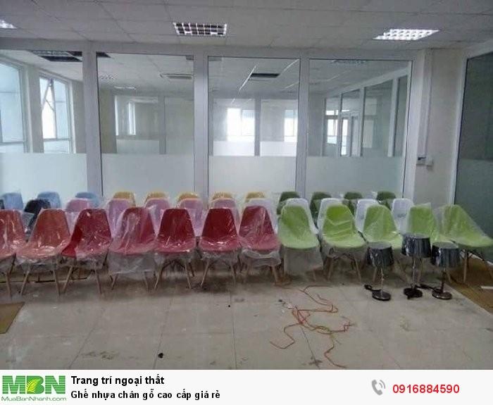 Ghế nhựa chân gỗ cao cấp giá rẻ3