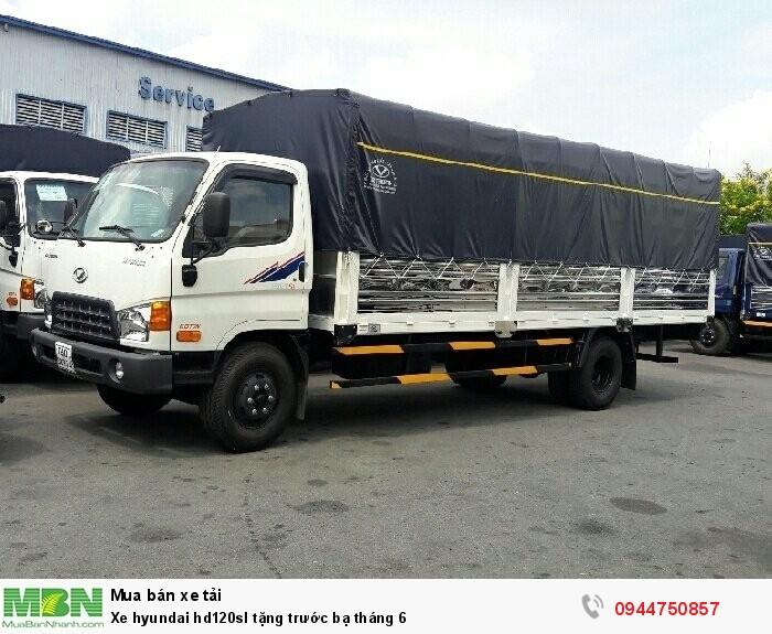 Xe Hyundai HD120sl 8.1 tấn thùng dài 6.3