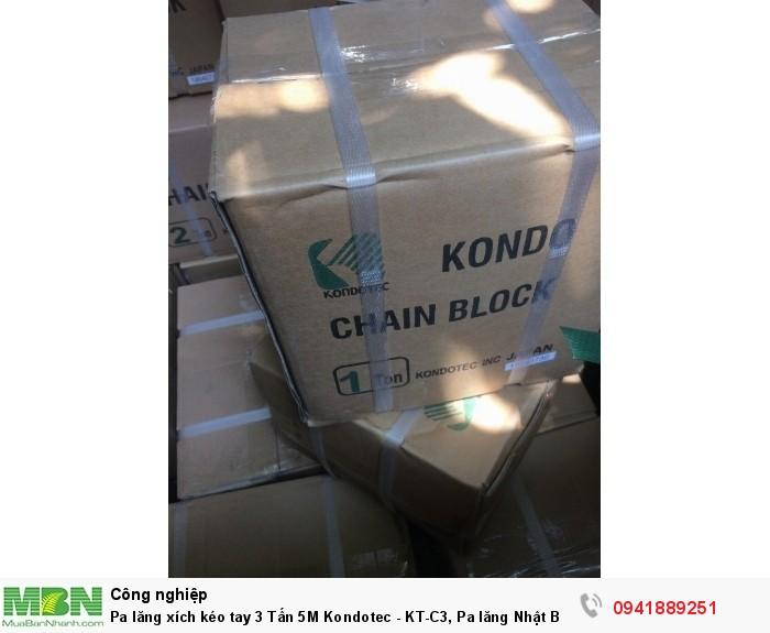 Pa lăng xích kéo tay 3 Tấn 5M Kondotec - KT-C3, Pa lăng Nhật Bản chính hãng giá tốt nhất.