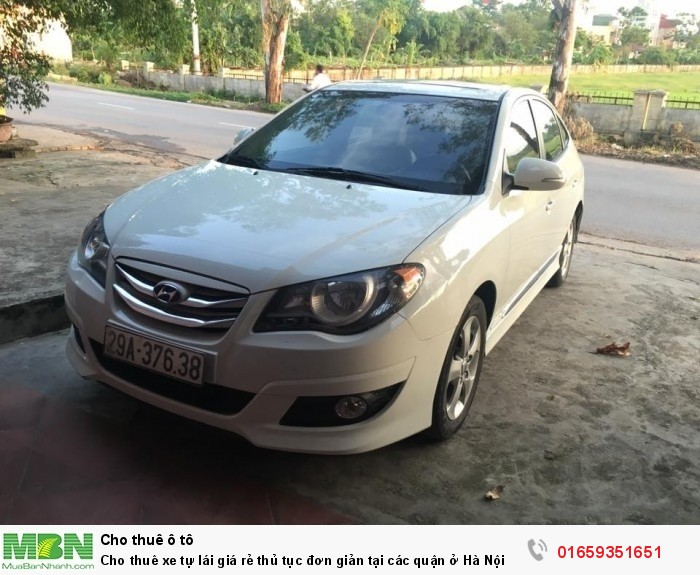 Cho  thuê xe tự lái giá rẻ thủ tục đơn giản tại các quận ở Hà Nội