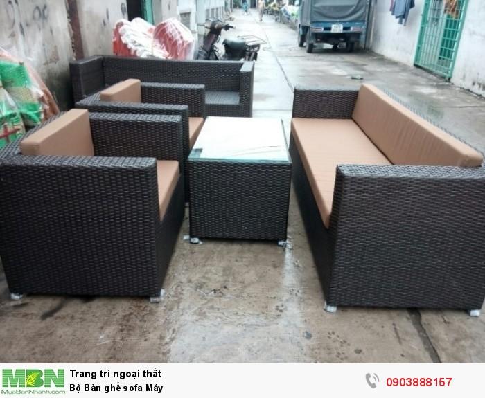 Bộ Bàn ghế sofa Mây băng 3