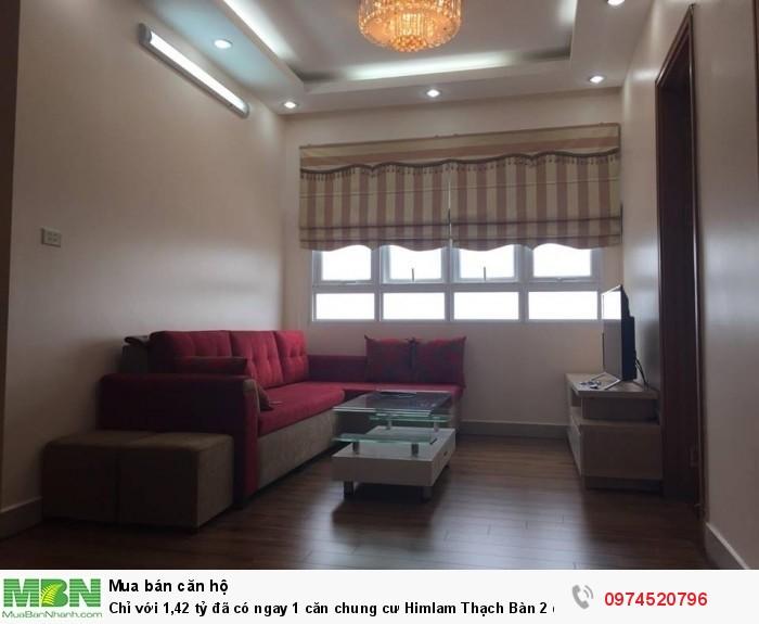 Chỉ với 1,42 tỷ đã có ngay 1 căn chung cư Himlam Thạch Bàn 2 đầy đủ nội thất.
