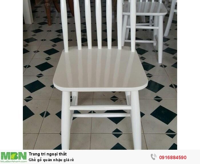 Ghế gỗ quán nhậu giá rẻ4
