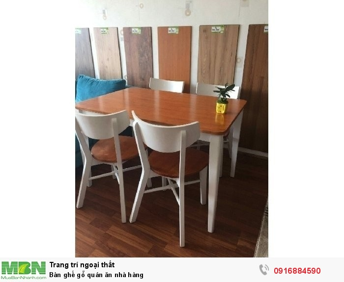 Bàn ghế gỗ quán ăn nhà hàng
