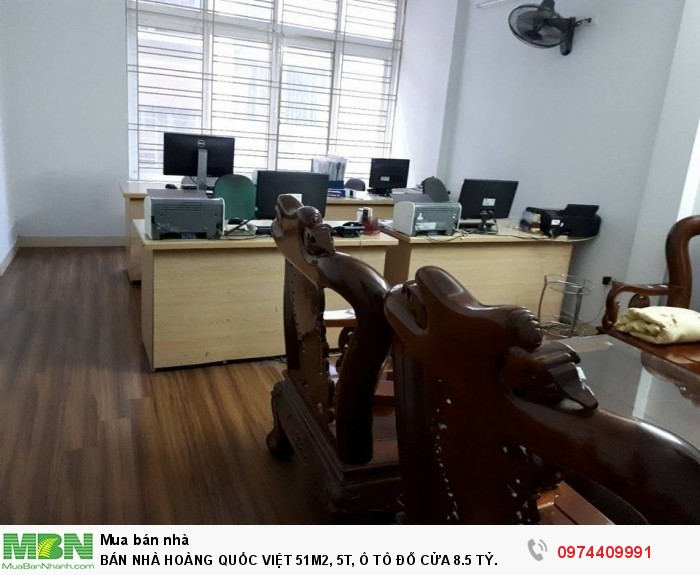 Bán Nhà Hoàng Quốc Việt 51m2, 5t, Ô Tô Đỗ Cửa