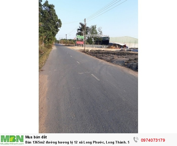 Bán 1365m2 đường hương lộ 12 xã Long Phước, Long Thành. Sổ hồng