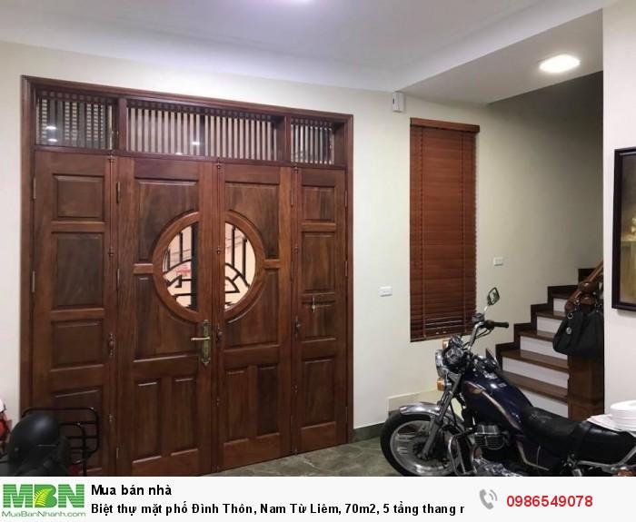 Biệt thự mặt phố Đình Thôn, Nam Từ Liêm, 70m2, 5 tầng thang máy, kinh doanh cực tốt