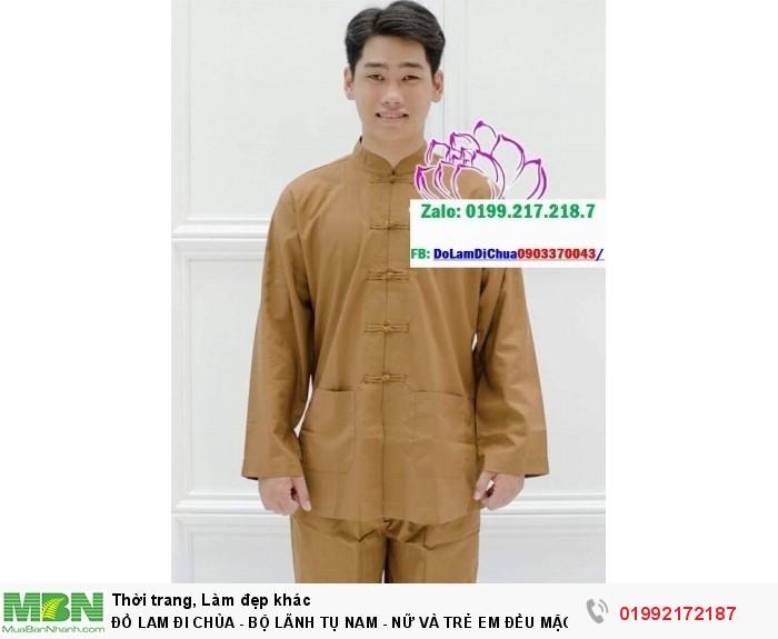 Đồ Lam Đi Chùa - Bộ Lãnh Tụ Nam - Nữ Và Trẻ Em Đều Mặc Được2