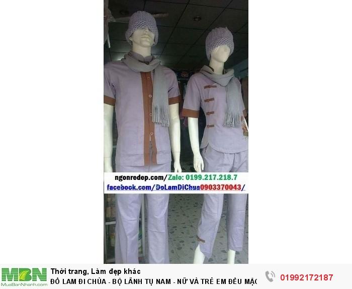 Đồ Lam Đi Chùa - Bộ Lãnh Tụ Nam - Nữ Và Trẻ Em Đều Mặc Được3