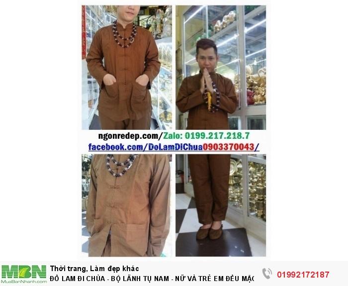 Đồ Lam Đi Chùa - Bộ Lãnh Tụ Nam - Nữ Và Trẻ Em Đều Mặc Được5