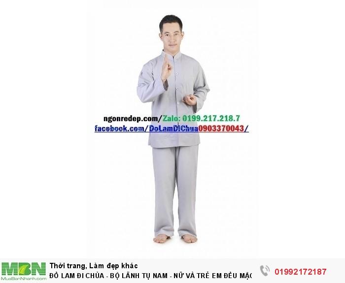 Đồ Lam Đi Chùa - Bộ Lãnh Tụ Nam - Nữ Và Trẻ Em Đều Mặc Được6