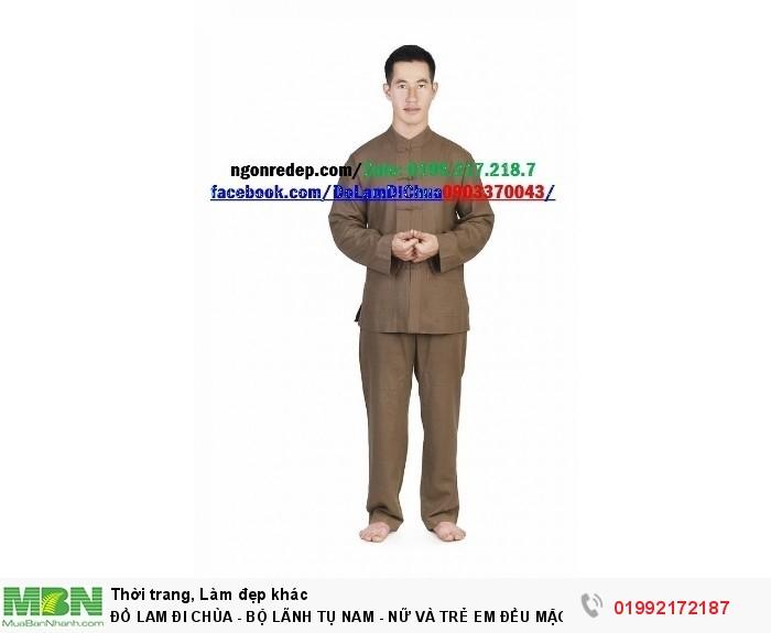 Đồ Lam Đi Chùa - Bộ Lãnh Tụ Nam - Nữ Và Trẻ Em Đều Mặc Được7