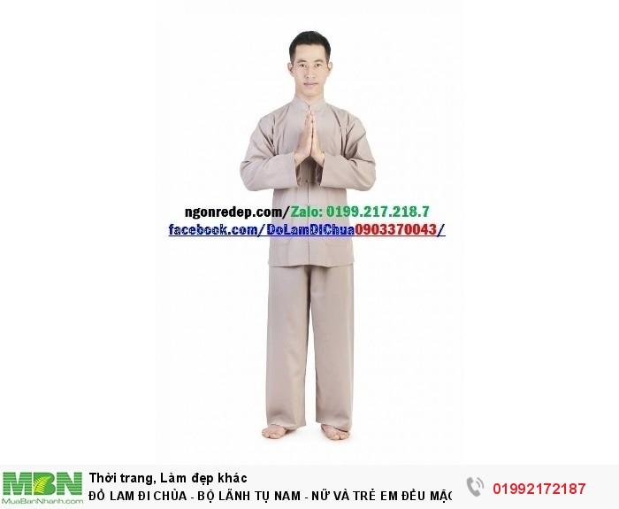 Đồ Lam Đi Chùa - Bộ Lãnh Tụ Nam - Nữ Và Trẻ Em Đều Mặc Được8