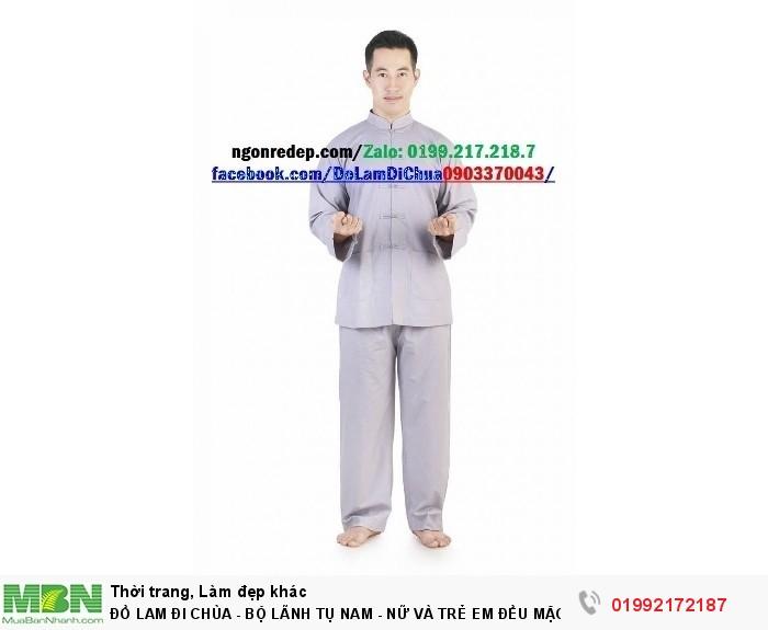 Đồ Lam Đi Chùa - Bộ Lãnh Tụ Nam - Nữ Và Trẻ Em Đều Mặc Được10