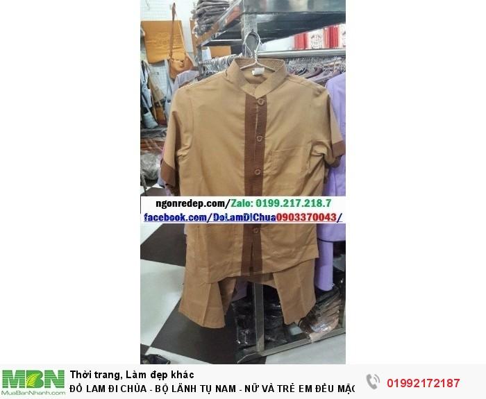 Đồ Lam Đi Chùa - Bộ Lãnh Tụ Nam - Nữ Và Trẻ Em Đều Mặc Được12