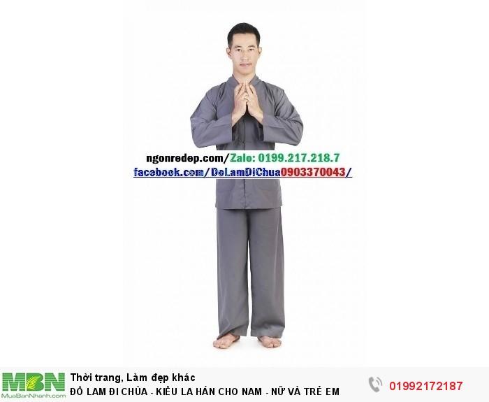 Đồ Lam Đi Chùa - Kiểu La Hán Cho Nam - Nữ Và Trẻ Em0