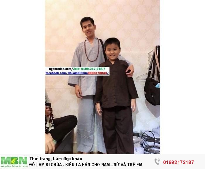 Đồ Lam Đi Chùa - Kiểu La Hán Cho Nam - Nữ Và Trẻ Em2