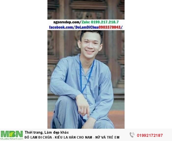 Đồ Lam Đi Chùa - Kiểu La Hán Cho Nam - Nữ Và Trẻ Em4
