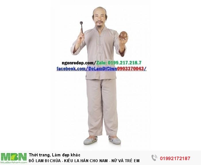 Đồ Lam Đi Chùa - Kiểu La Hán Cho Nam - Nữ Và Trẻ Em5