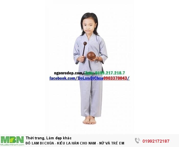 Đồ Lam Đi Chùa - Kiểu La Hán Cho Nam - Nữ Và Trẻ Em7