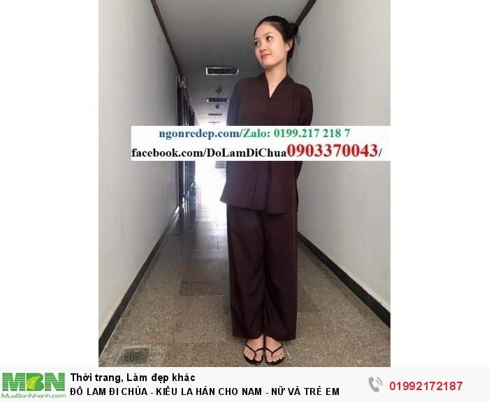 Đồ Lam Đi Chùa - Kiểu La Hán Cho Nam - Nữ Và Trẻ Em8