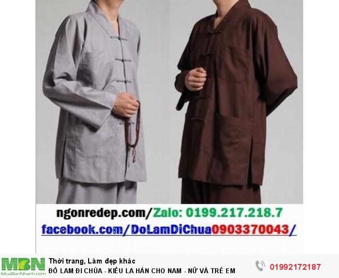 Đồ Lam Đi Chùa - Kiểu La Hán Cho Nam - Nữ Và Trẻ Em11