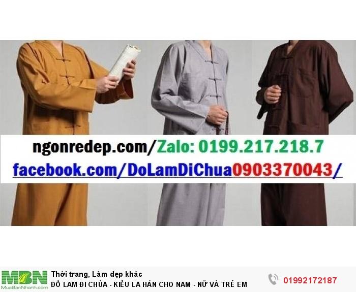 Đồ Lam Đi Chùa - Kiểu La Hán Cho Nam - Nữ Và Trẻ Em12