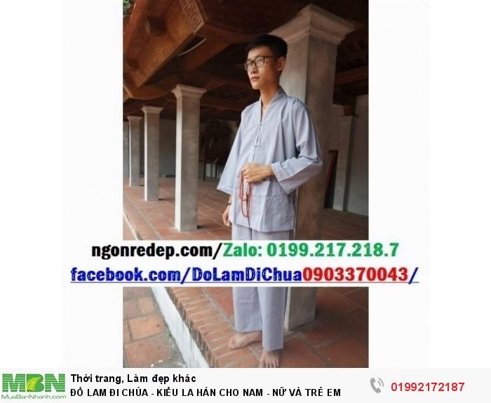 Đồ Lam Đi Chùa - Kiểu La Hán Cho Nam - Nữ Và Trẻ Em13