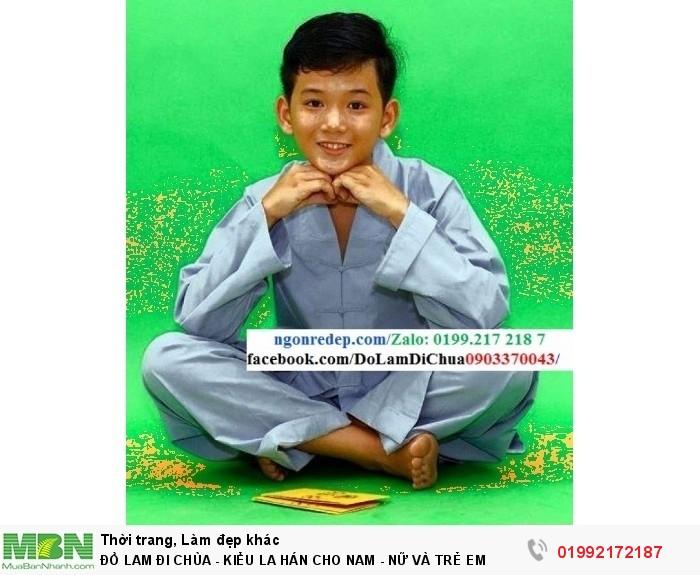 Đồ Lam Đi Chùa - Kiểu La Hán Cho Nam - Nữ Và Trẻ Em14