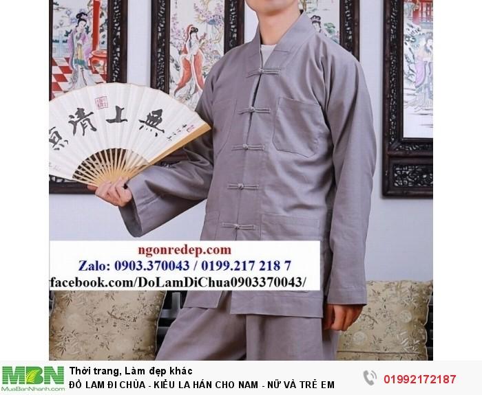 Đồ Lam Đi Chùa - Kiểu La Hán Cho Nam - Nữ Và Trẻ Em15