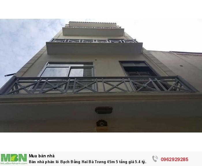Bán nhà phân lô Bạch Đằng Hai Bà Trưng 45m 5 tầng giá 5.4 tỷ.